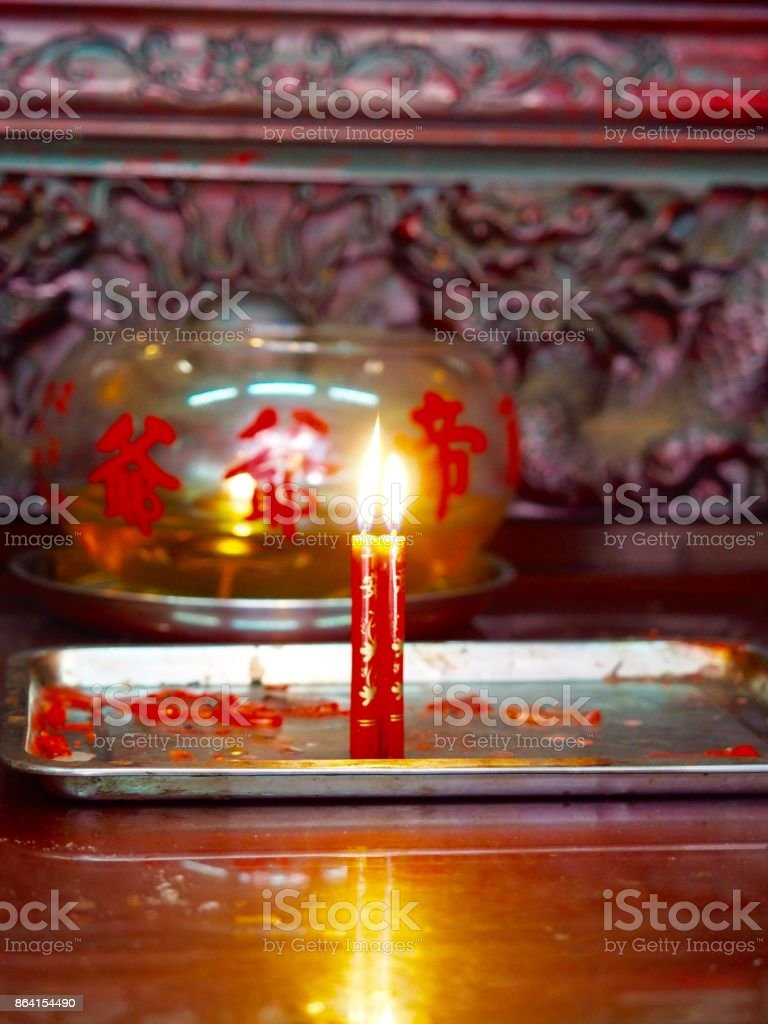 Red Candle royalty-free stock photo
