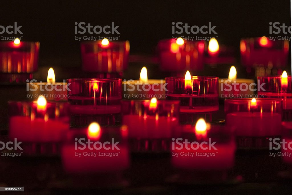 Red Candles Close-up  Remembrance royalty-free stock photo
