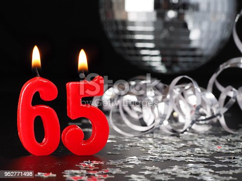 istock Red candles showing Nr. 65 952771498