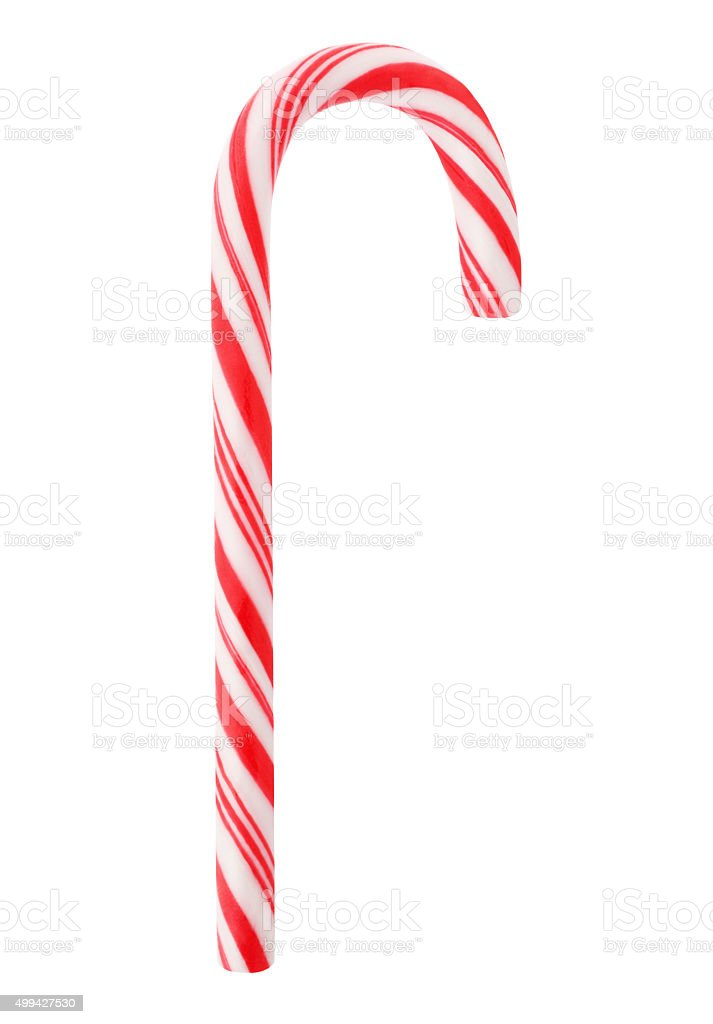 Red Candy Cane (with path) stock photo