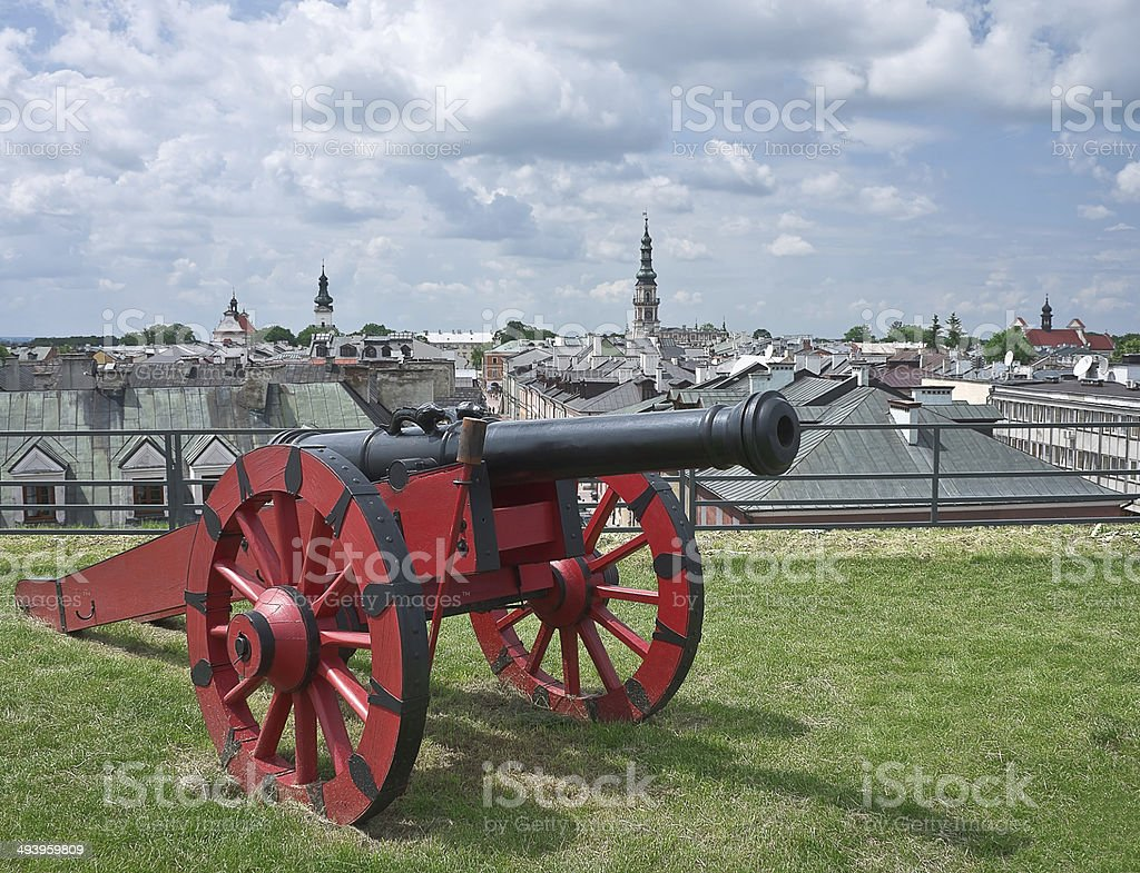 Red cannon royalty-free stock photo