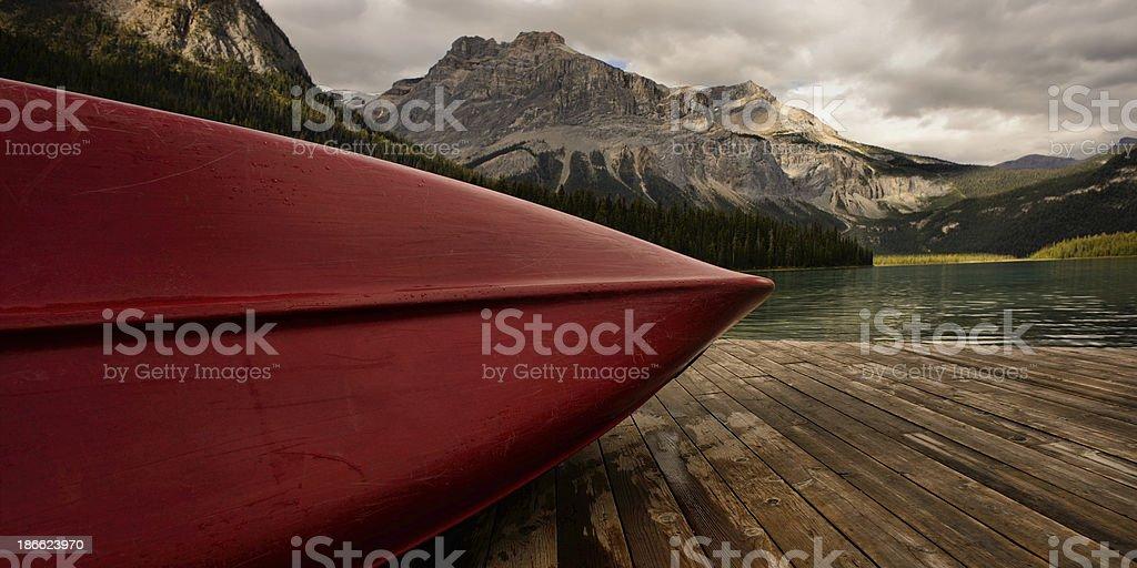 Red Canoe royalty-free stock photo
