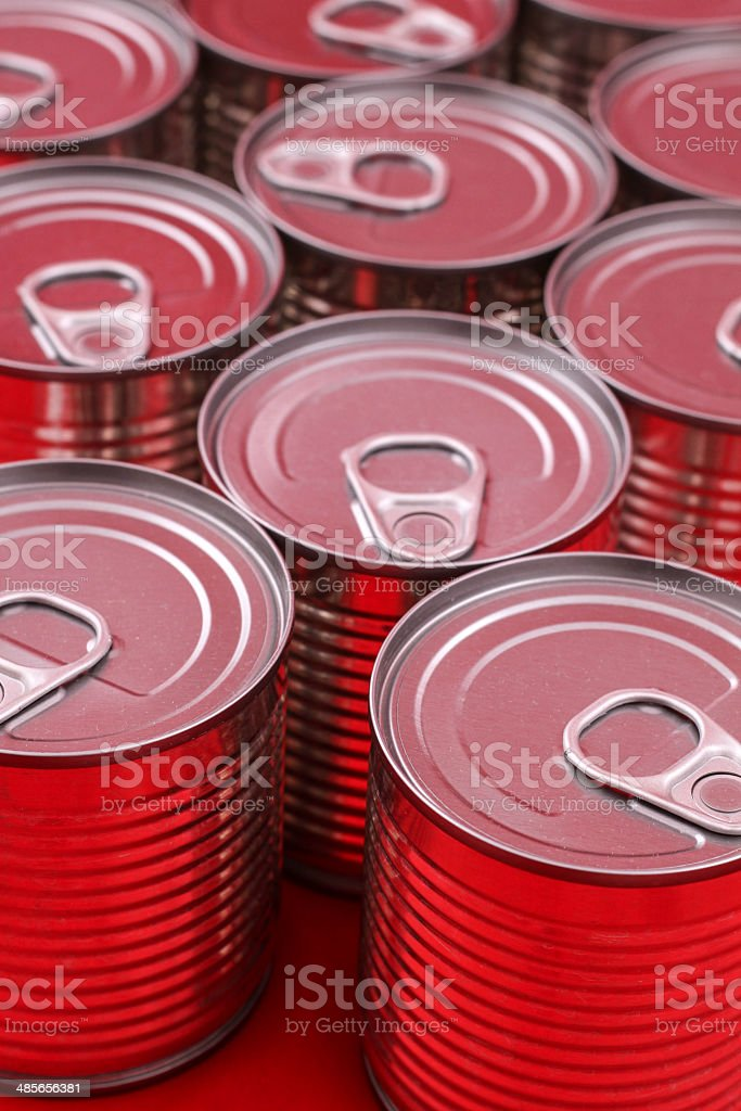 Red Cans royalty-free stock photo