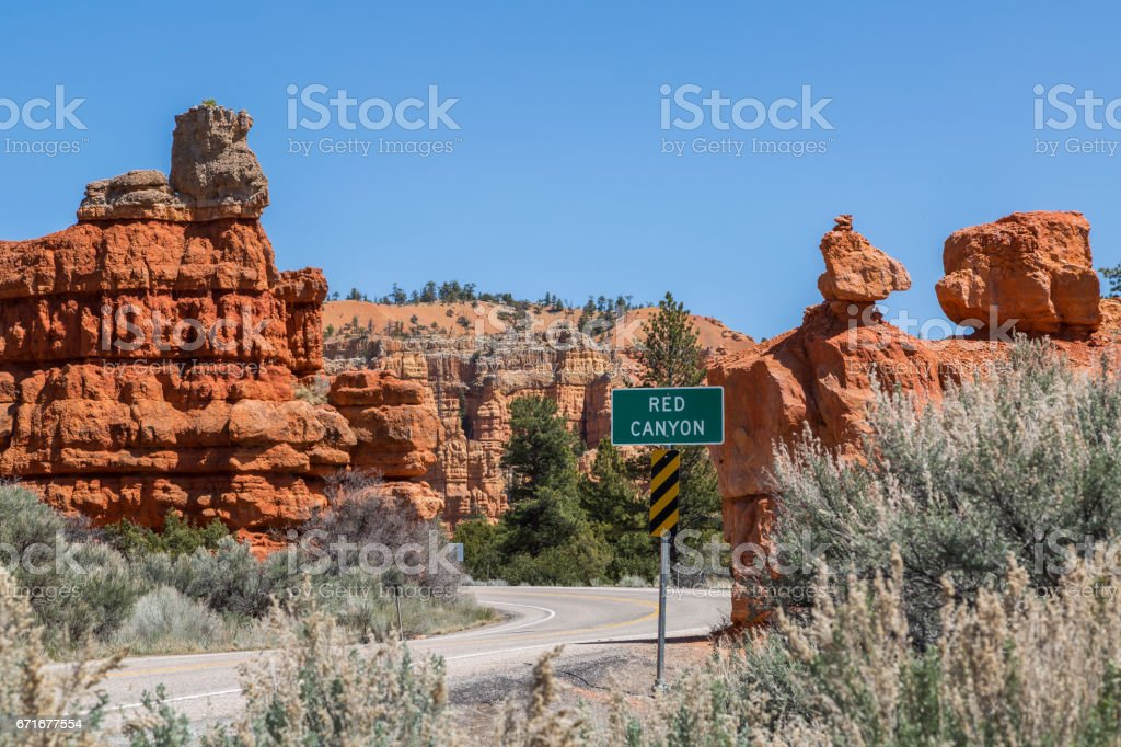 Red Canyon entrance stock photo