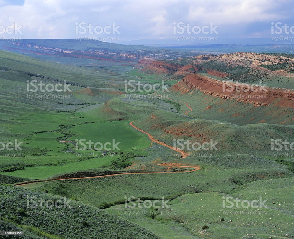 Red Canyon in Wyoming royalty-free stock photo