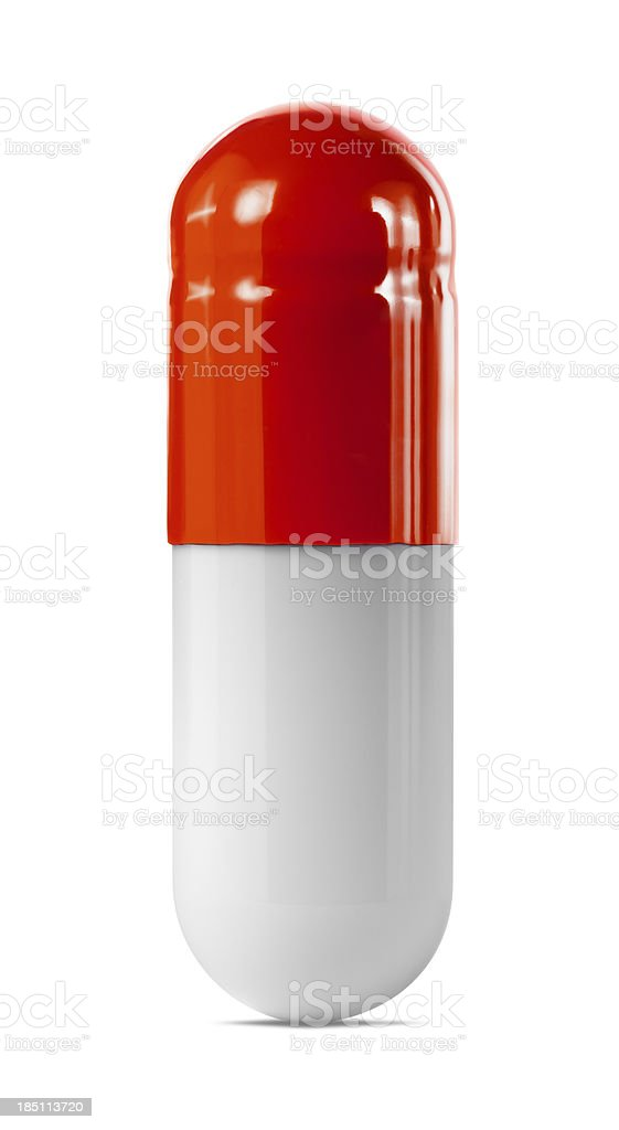 Red Capsule royalty-free stock photo