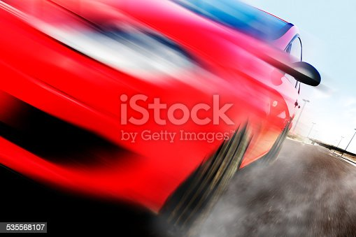 639525926 istock photo Red car and speed 535568107