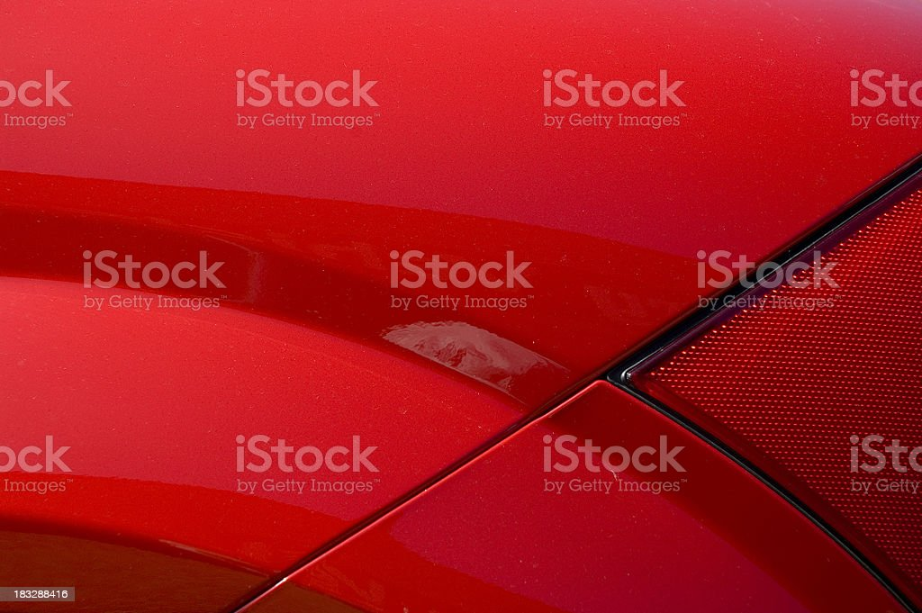 Red car detail stock photo