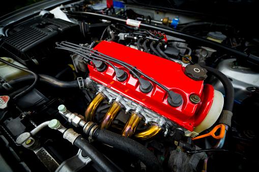 Red Car Engine Stockfoto und mehr Bilder von 2016