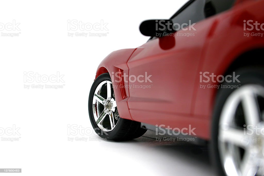 Red Car Miniature stock photo