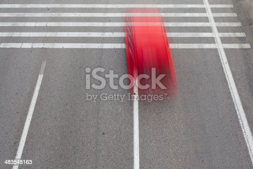 istock Red Car 483548163