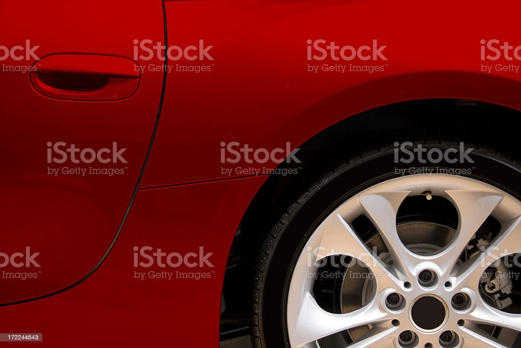 Red car side stock photo