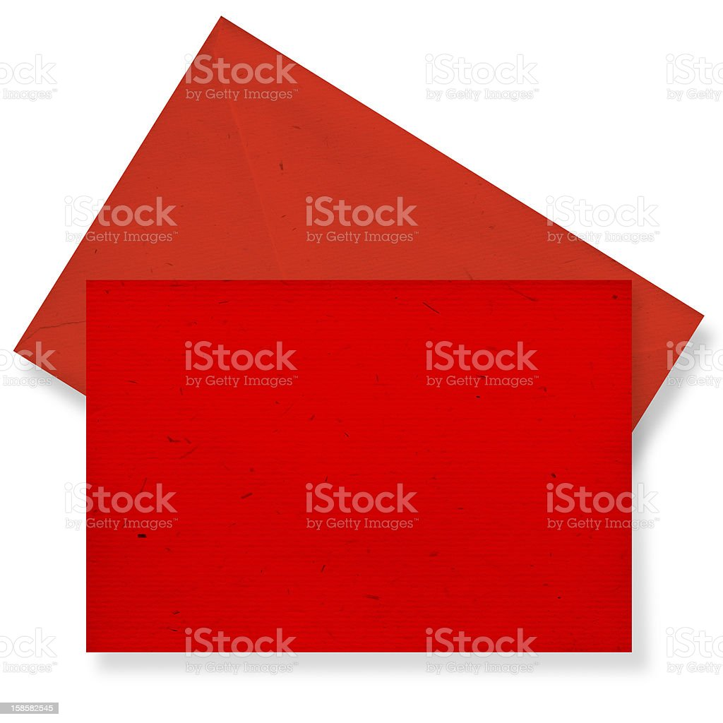 Red card and envelope. royalty-free stock photo