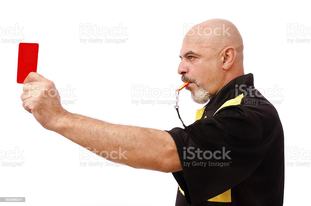 Red card! stock photo