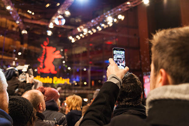 red carpet - 65th berlinale international film festival - film festival stock photos and pictures