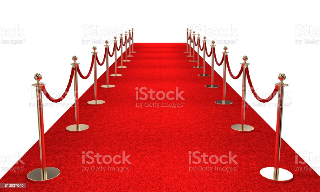 red carpet and barrier stock photo