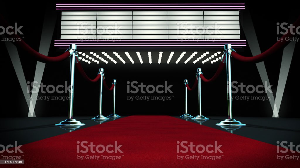 Red Carpet and Marquee stock photo
