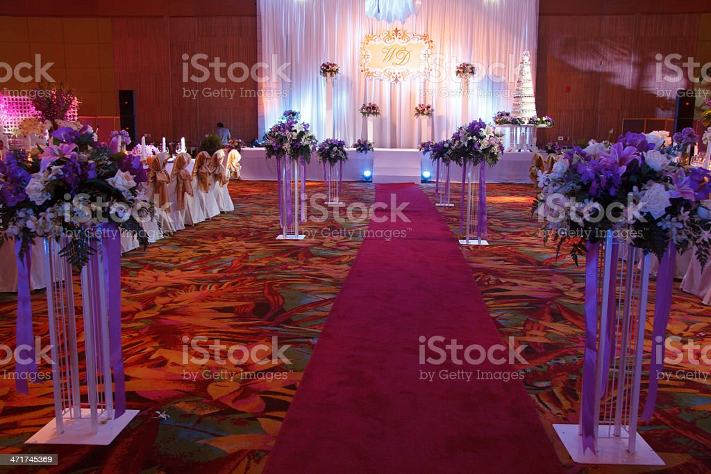Red Carpet And Stage royalty-free stock photo