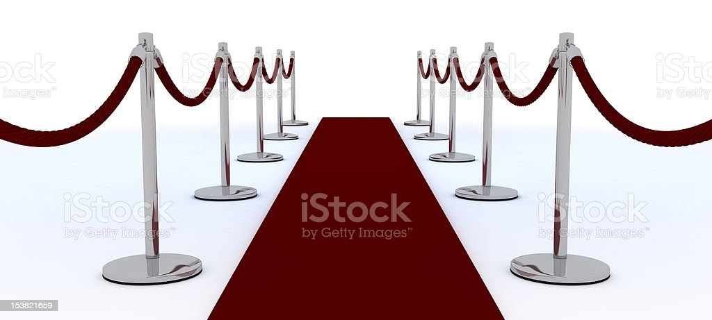 red carpet and velvet rope royalty-free stock photo