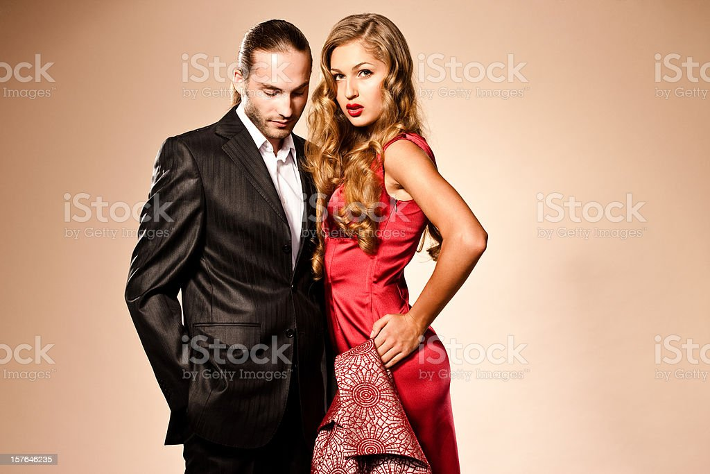 Red Carpet Couple royalty-free stock photo