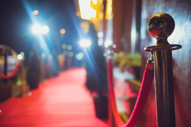 red carpet entrance - arts culture and entertainment stock pictures, royalty-free photos & images