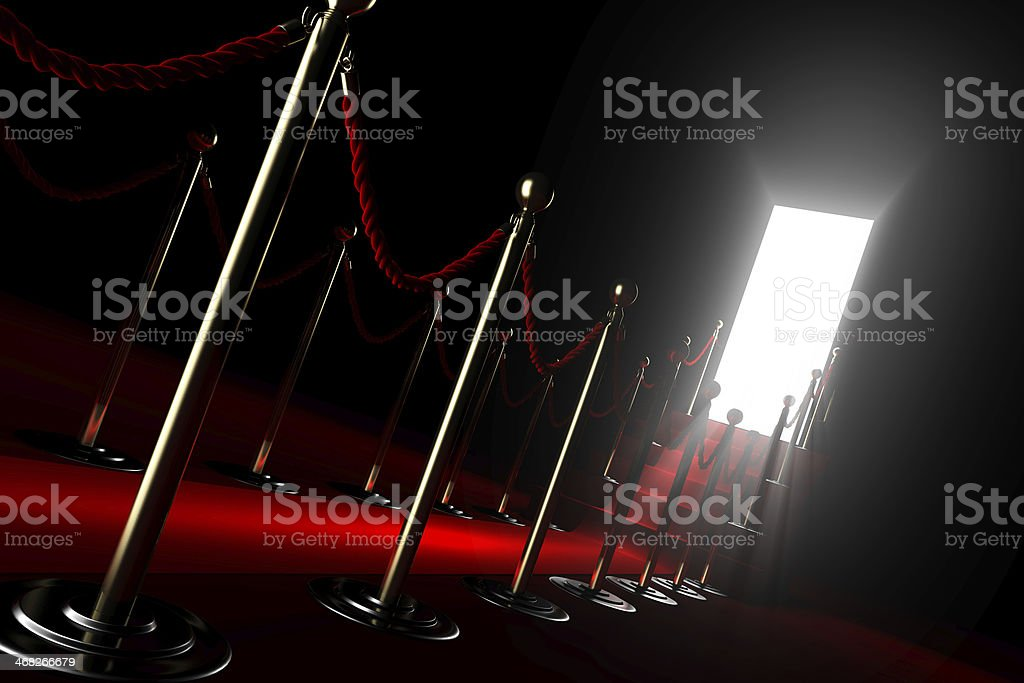 Red carpet for fame stock photo