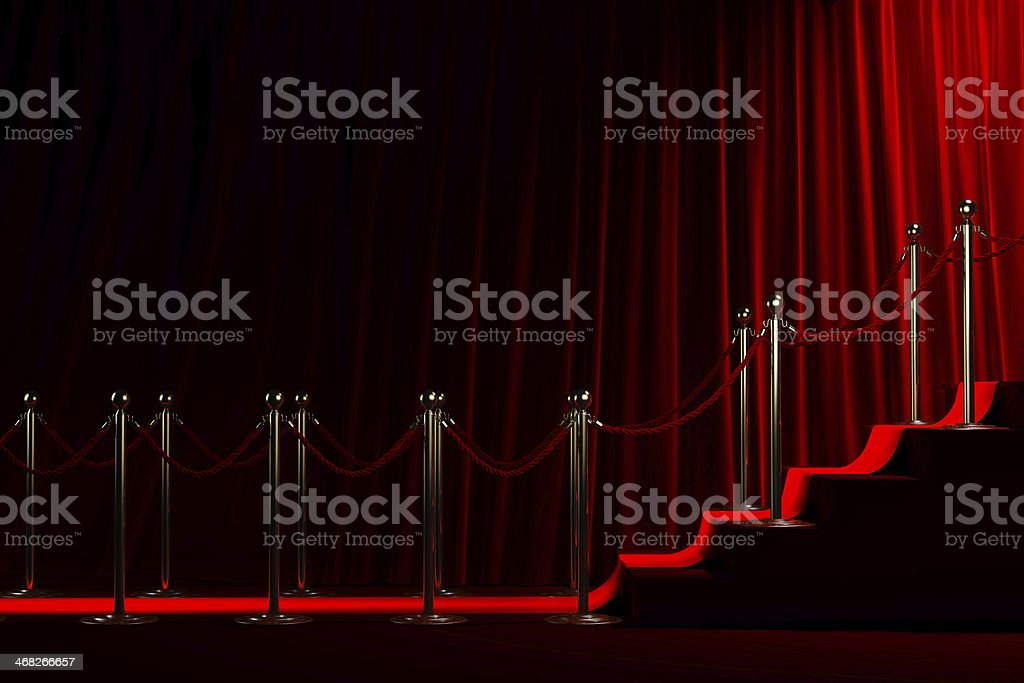 Red carpet for success stock photo