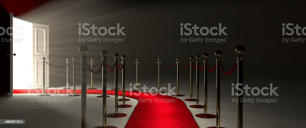 Red Carpet for the success stock photo