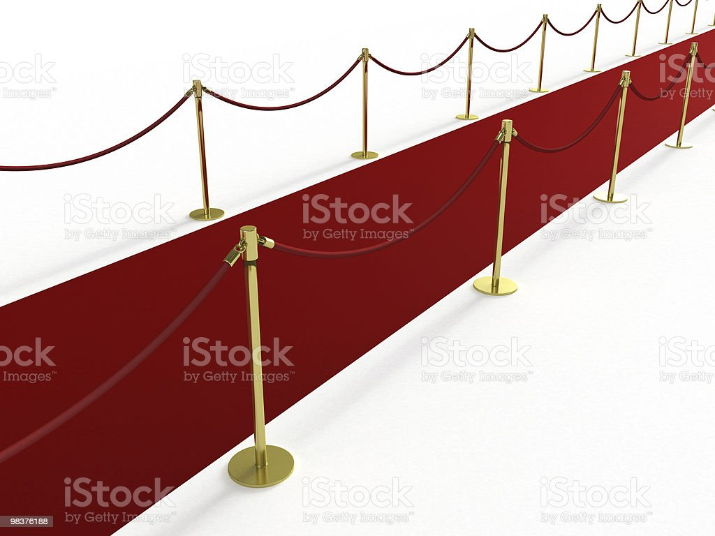 Red carpet from the side royalty-free stock photo