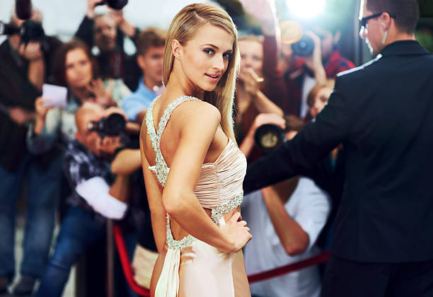 red carpet glamour - celebrities stock pictures, royalty-free photos & images