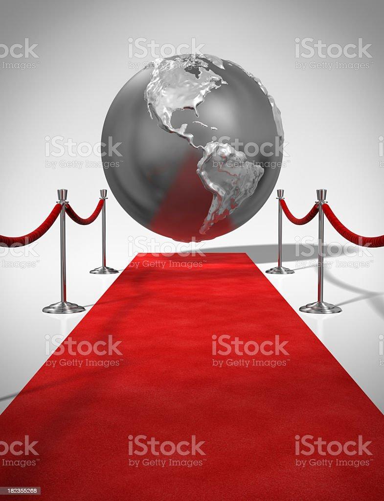 Red Carpet Globe royalty-free stock photo
