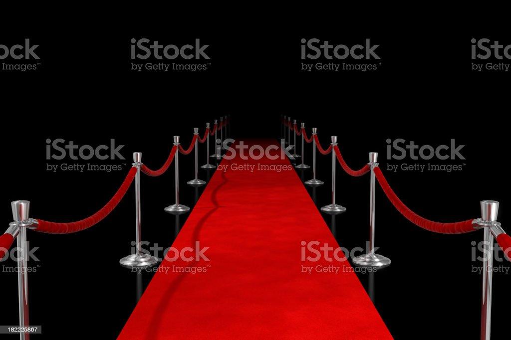 Roter Teppich auf Schwarz – Foto