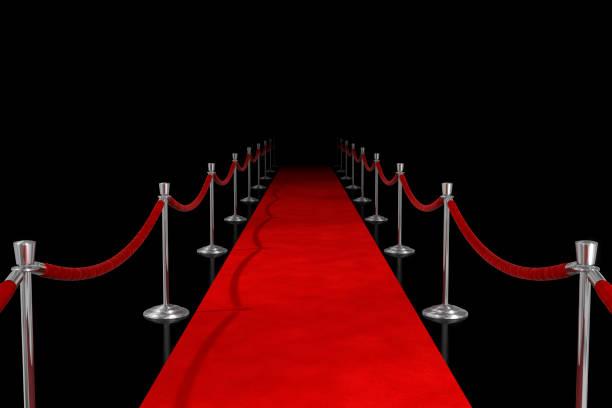 Red Carpet on Black stock photo