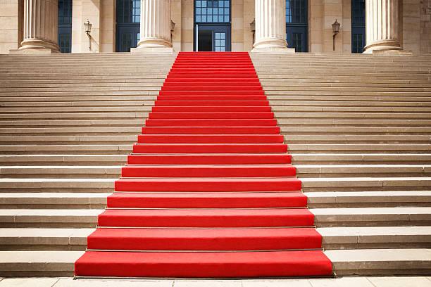 Tapis rouge sur l'escalier - Photo
