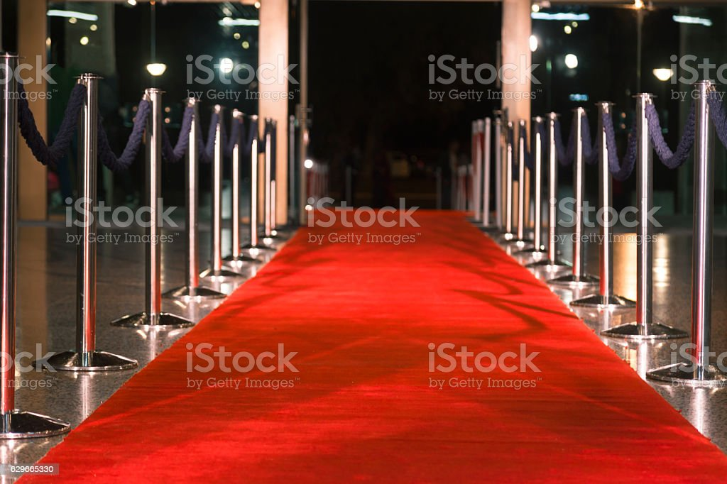 Red carpet stock photo