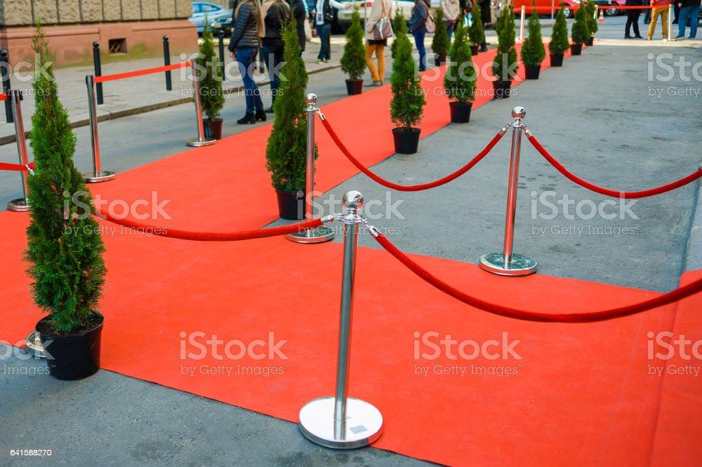 Rosso Carpet - foto stock