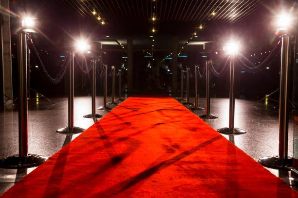 Red carpet stock photo