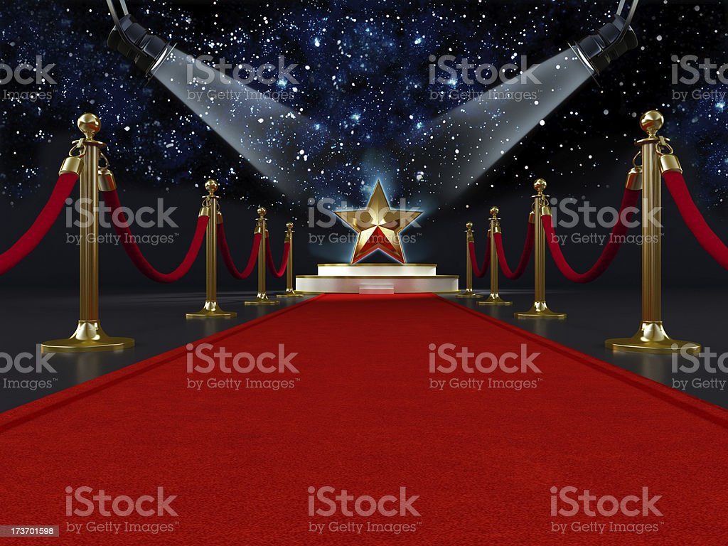 Red carpet star royalty-free stock photo
