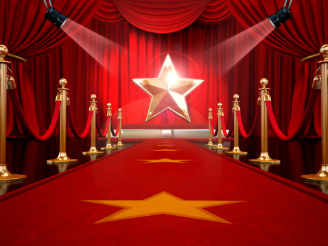 Red Carpet To The Stage Stock Photo - Download Image Now - iStock