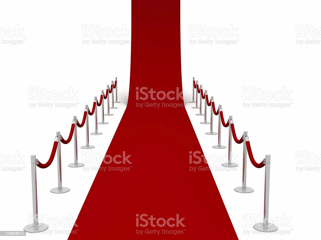 Red carpet with Barriers royalty-free stock photo