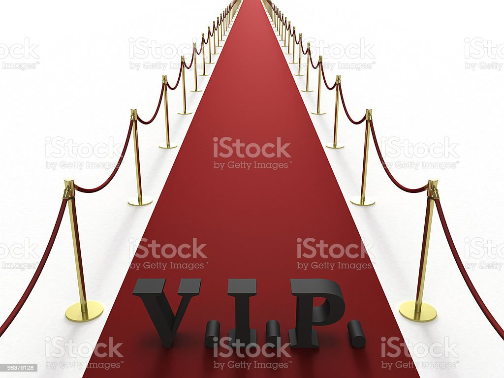 Red carpet with V.I.P. sign royalty-free stock photo