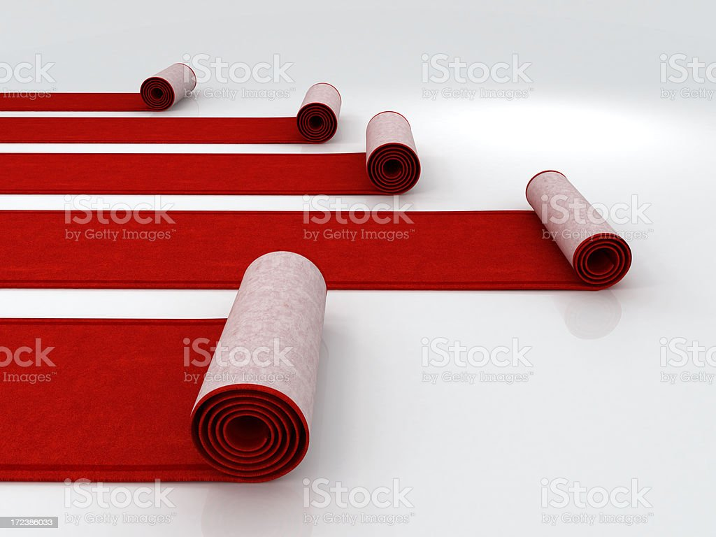 Red carpets stock photo