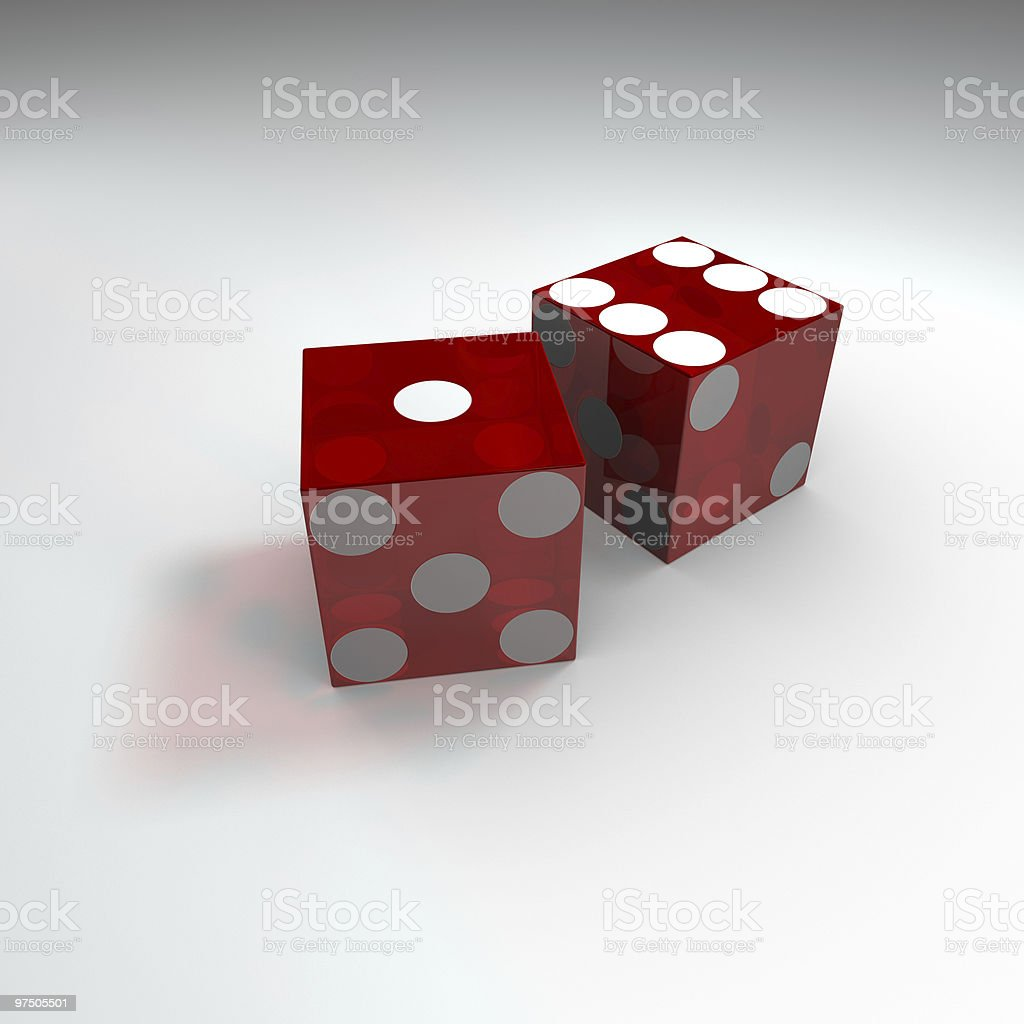 Red Casino Dice royalty-free stock photo