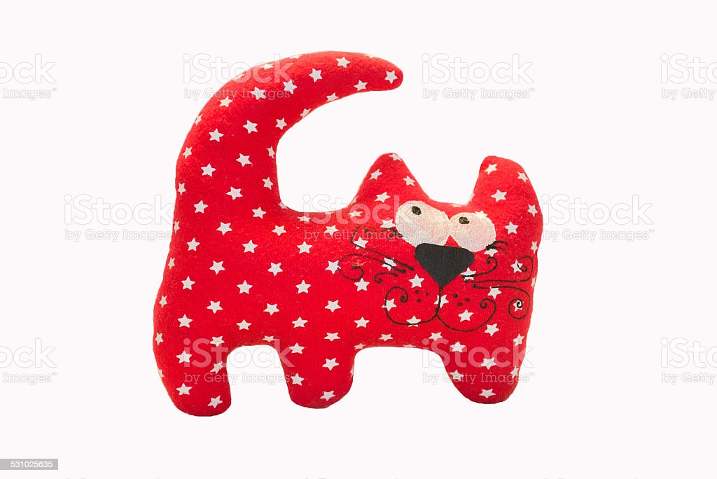 Red cat toy stock photo