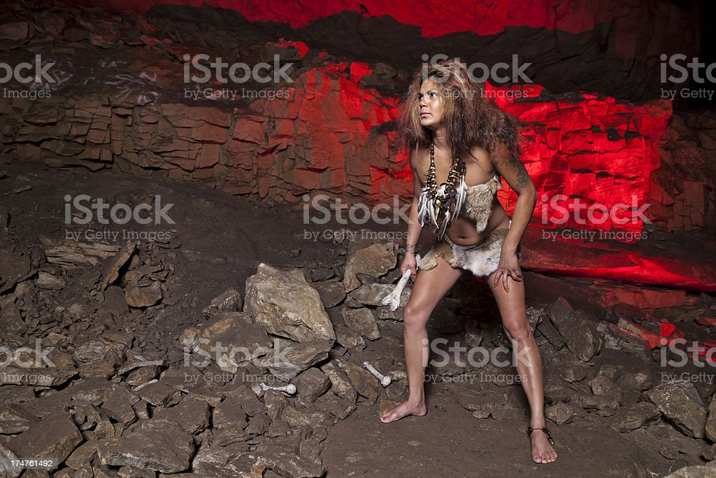 red cave stock photo