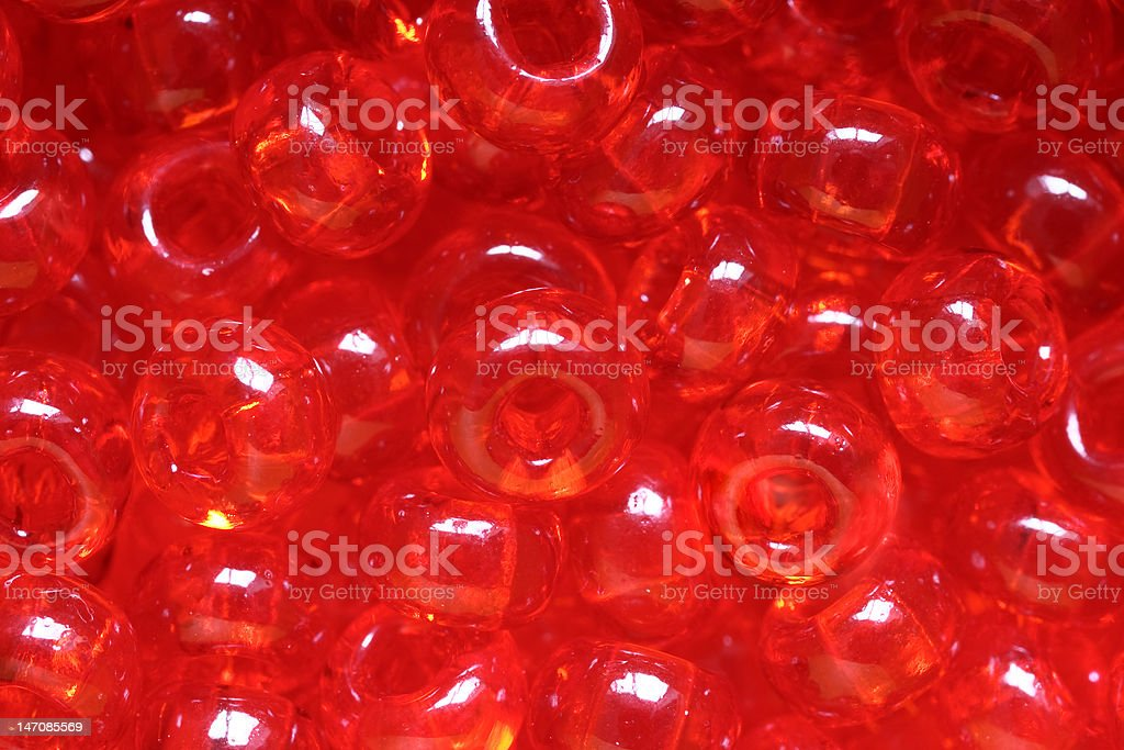 'Red caviar' beads. stock photo