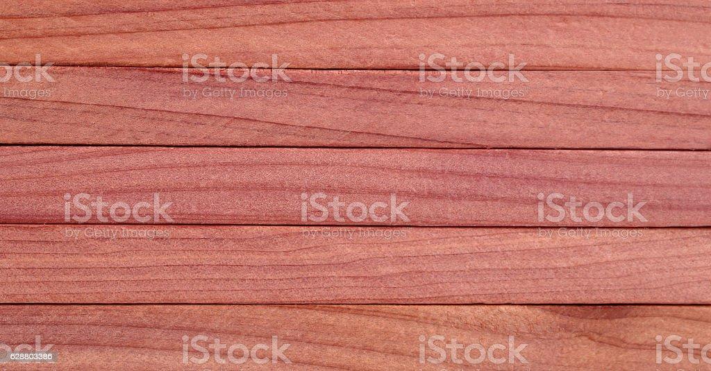 Red cedar wood blocks background stock photo
