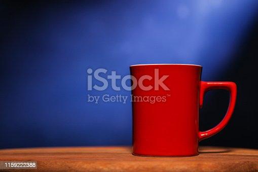 Red ceramic cup