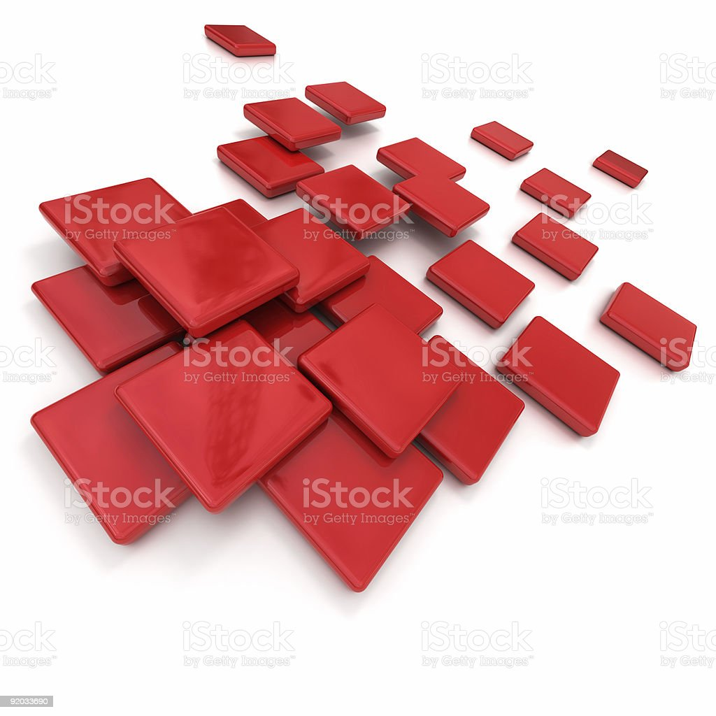 Red ceramic tiles royalty-free stock photo