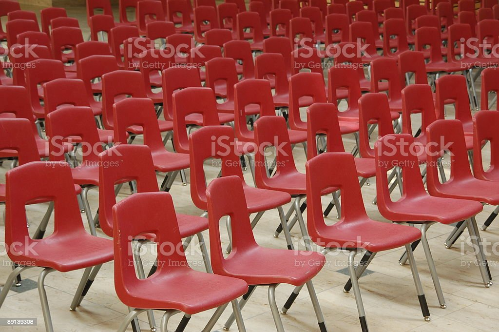 Red chair arrangement royalty-free stock photo
